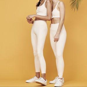 Girlfriend collective cream leggings